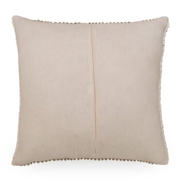 FAUX LEATHER RIBBON THROW PILLOW, , hi-res