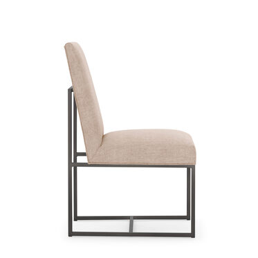 GAGE LOW DINING CHAIR - PEWTER, COSTA - BLUSH, hi-res