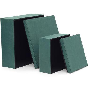 TEAL VINTAGE SUEDE 2 PIECE BOX SET, , hi-res