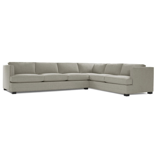 KEATON SHELTER LEFT ARM SECTIONAL CLASSIC DEPTH WITH NAILHEAD, FULMER - EARTH, hi-res
