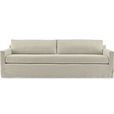 HUNTER STUDIO LONG SLIPCOVER SOFA, Performance Linen - SILVER, hi-res