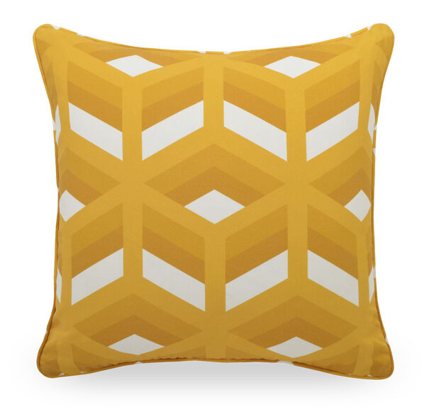 22 IN. X 22 IN. DOWN ACCENT PILLOW, DELMAR - SUNFLOWER, hi-res
