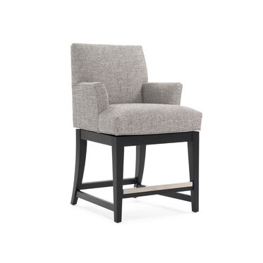 ANTHONY RETURN SWIVEL COUNTER STOOL - WITH ARMS, , hi-res