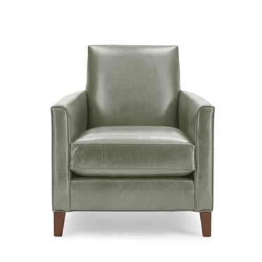 AIDEN LEATHER CHAIR, MONT BLANC - FERN, hi-res