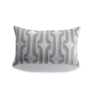 LINEN & CREAM VELVET THROW PILLOW, , hi-res
