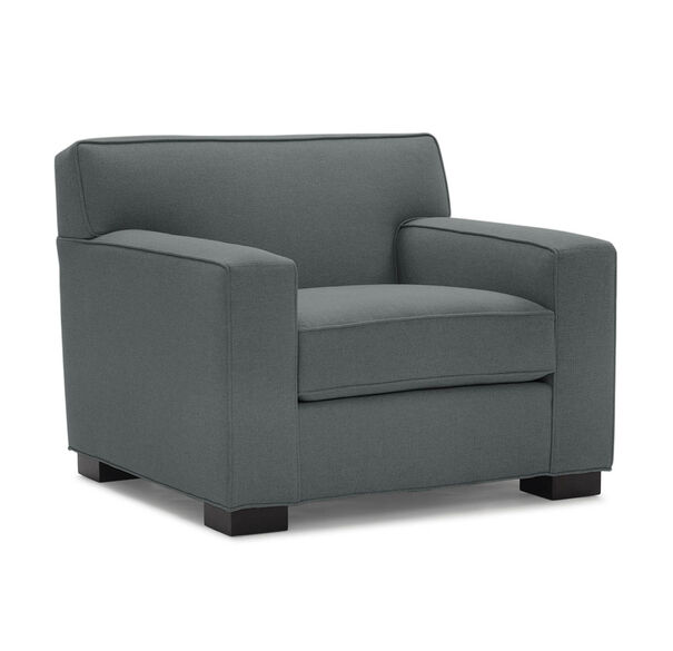 JEAN LUC CHAIR, Performance Textured pebble Weave - CHARCOAL                             , hi-res