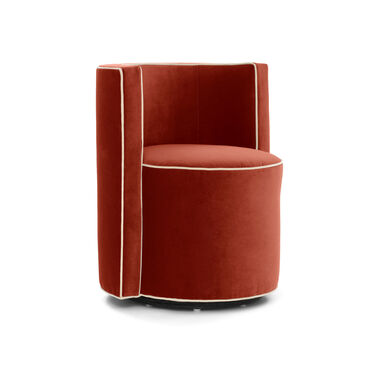 POPPY WITH WELT FULL SWIVEL CHAIR, BOULEVARD - SANGRIA, hi-res