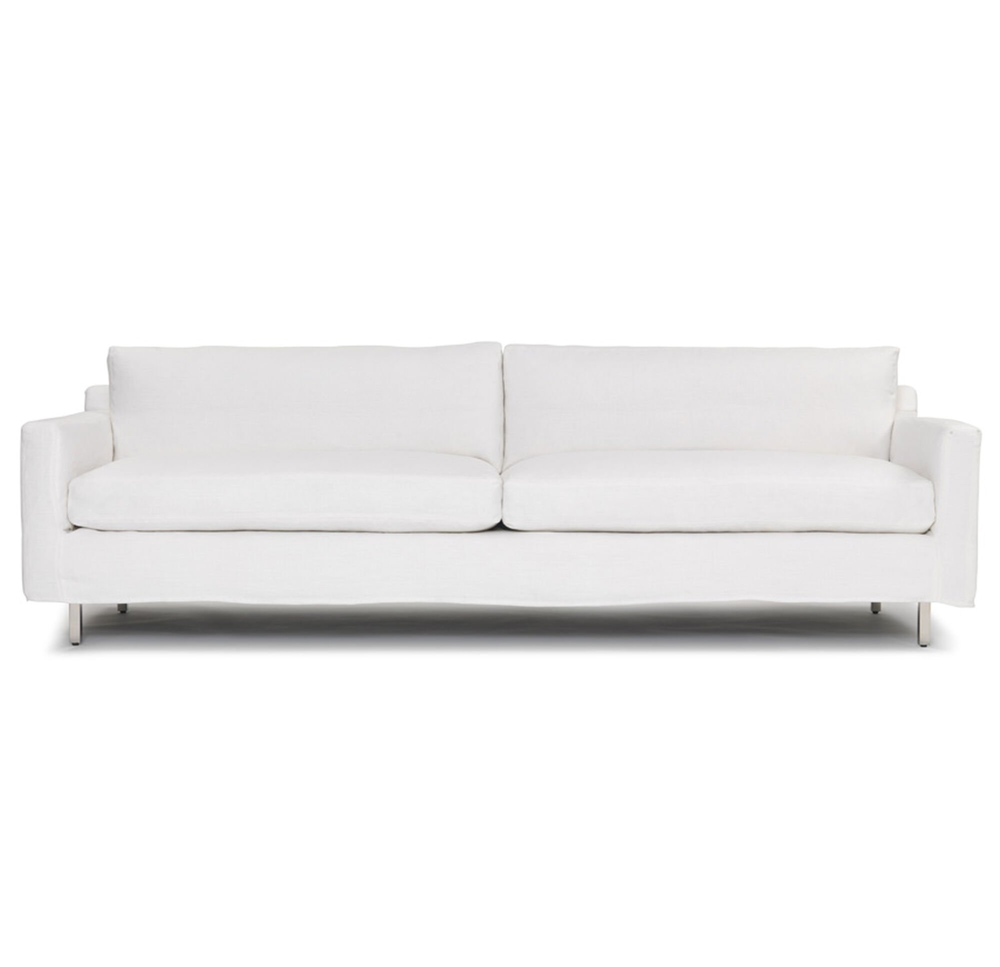silver slipcover louis sofas front seating sofa camille