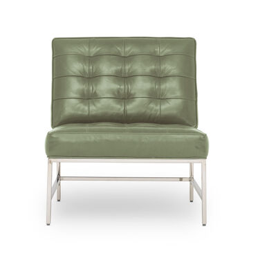 MAJOR LEATHER CHAIR, MONT BLANC - FERN, hi-res