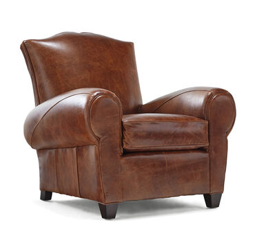ANDRE LEATHER CHAIR, ROYALE - ONYX, hi-res