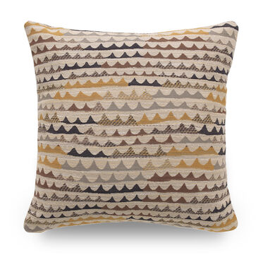 22 IN. SQUARE THROW PILLOW NO WELT, RIPPLE - CAROB, hi-res