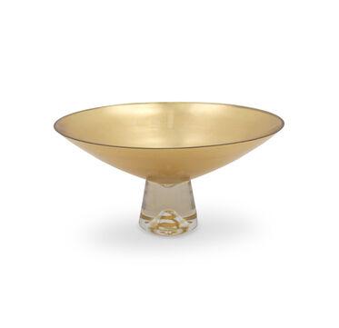 PEDESTAL LEAF DISH - GOLD, , hi-res