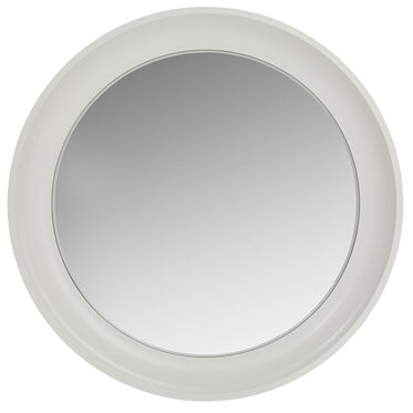 MODERN WHITE CONVEX MIRROR, , hi-res