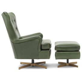 ORSON LEATHER SWIVEL CHAIR, MONT BLANC - WINTER PINE, hi-res