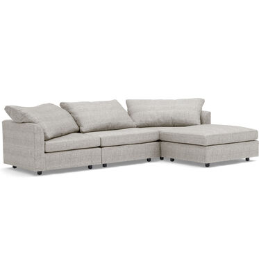 BIG EASY 4-PC SECTIONAL, COSTA - SILVER, hi-res