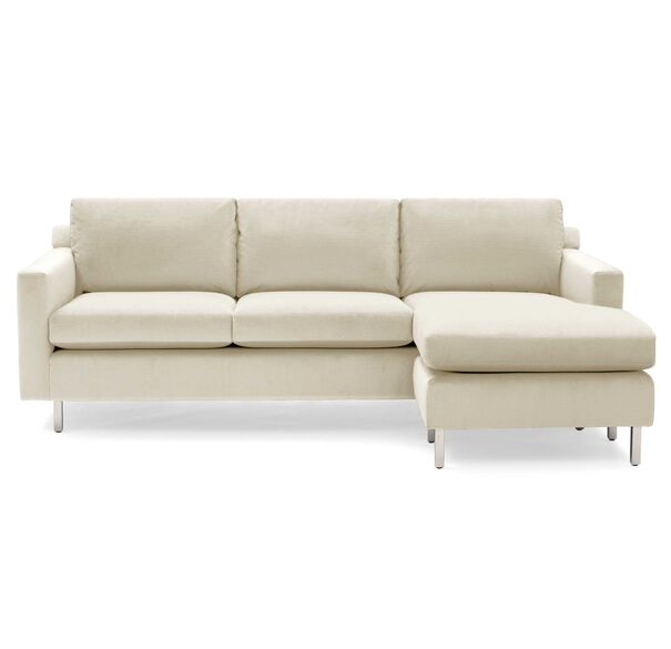 HUNTER STUDIO NO WELT 95 RIGHT CHAISE SECTIONAL, PIPPIN - CREAM, hi-res