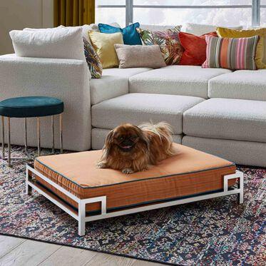 LARGE DOG BED, DRIFT - ORANGE, hi-res