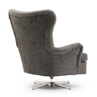ORSON SWIVEL CHAIR, SHERPA - PEWTER, hi-res