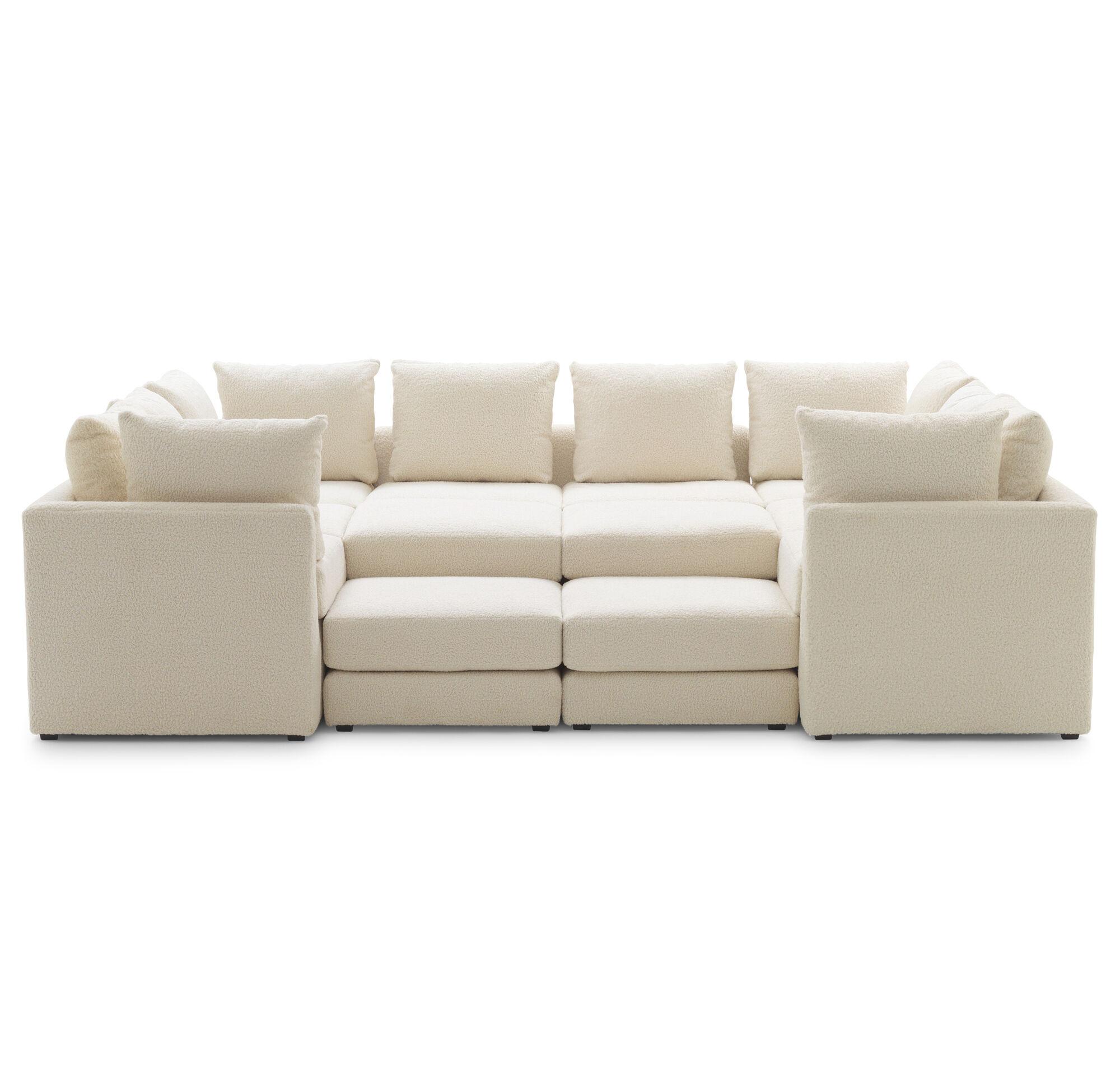Pitt 7 pc sectional sofa sherpa natural