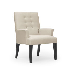 OLIVER ARM DINING CHAIR, Belgian Linen - Oatmeal, hi-res