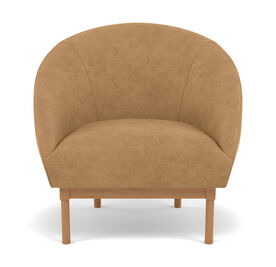 ROSE LEATHER CHAIR, Moab - Italian Leather - Desert, hi-res