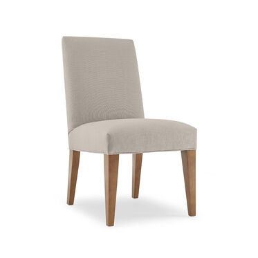 ANTHONY SIDE DINING CHAIR, Performance Textured Linen - PEWTER, hi-res