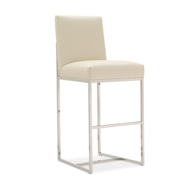 GAGE LEATHER BAR STOOL, CORDELL - DOVE, hi-res