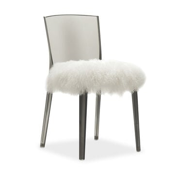 ALAIN SMOKE SIDE DINING CHAIR WITH CUSHION, , hi-res