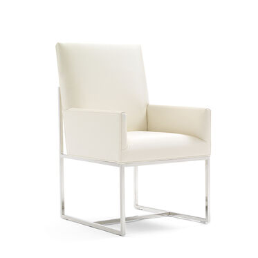 GAGE LOW ARM DINING CHAIR, KOKO - WHITE, hi-res