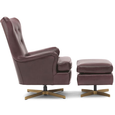 ORSON LEATHER SWIVEL CHAIR, MONT BLANC - AUBERGINE, hi-res