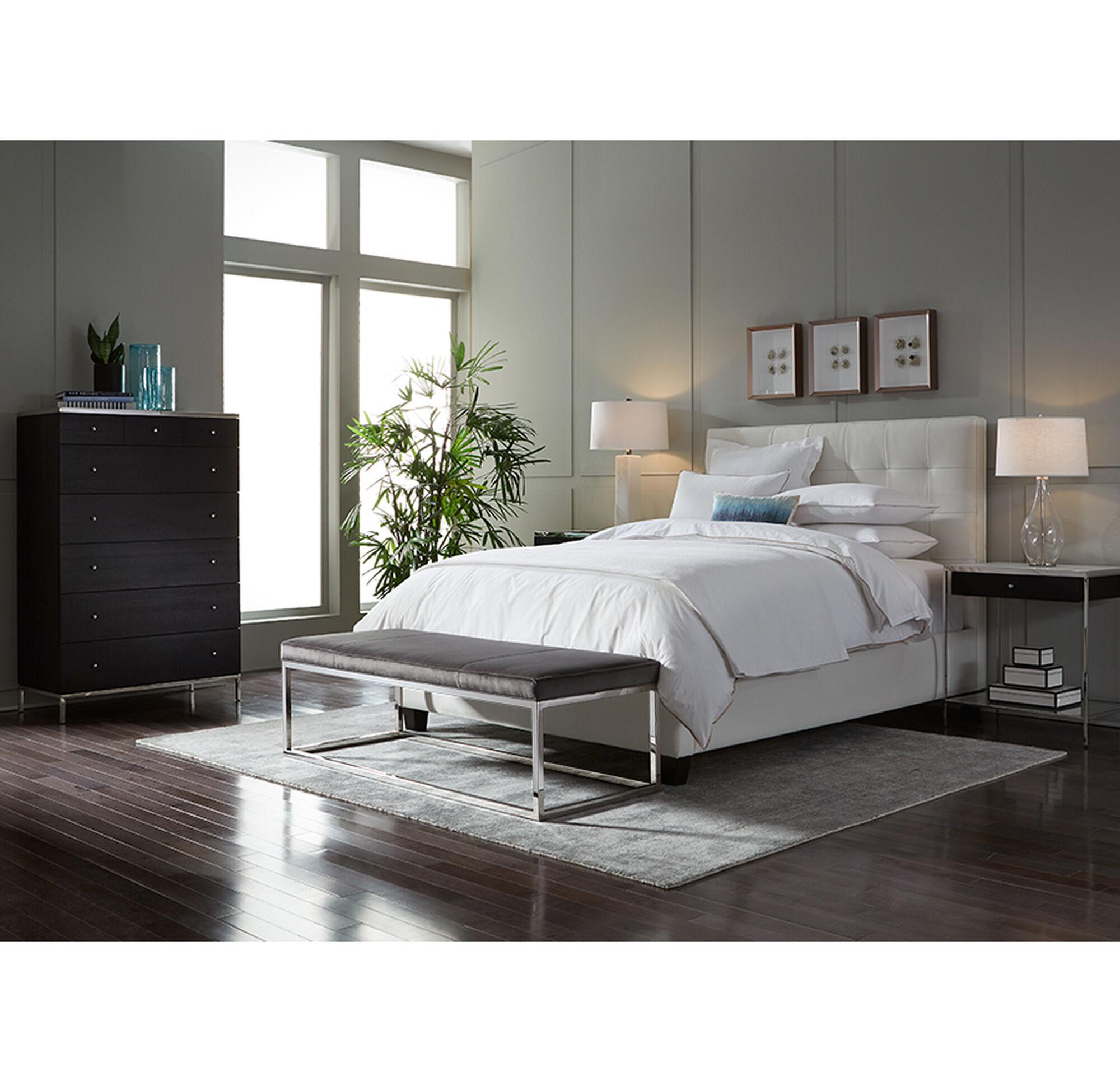 butler queen storage platform bed combo -