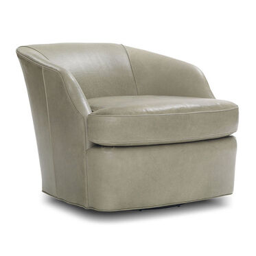 ARIES LEATHER FULL SWIVEL CHAIR, HIGHLAND - EUCALYPTU, hi-res