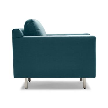HUNTER STUDIO NO WELT CHAIR, PIPPIN - TEAL, hi-res