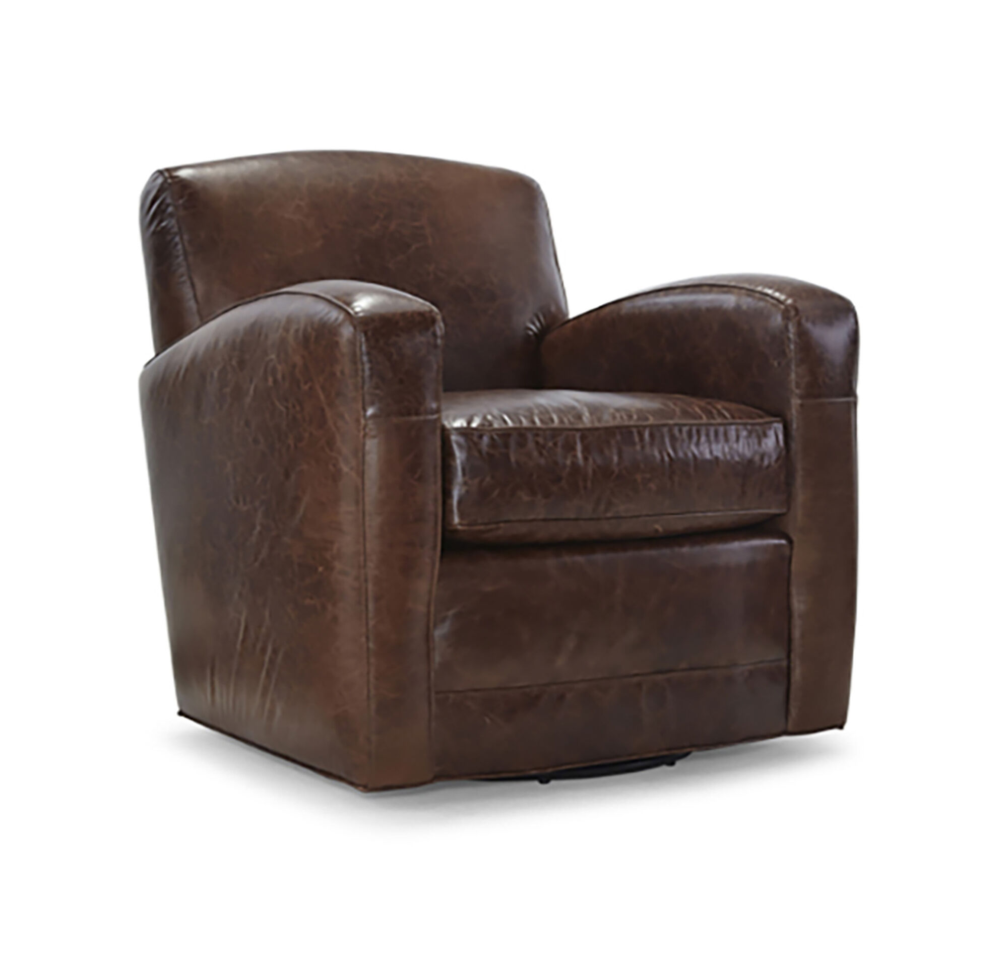 ELLIS LEATHER RETURN SWIVEL CHAIR