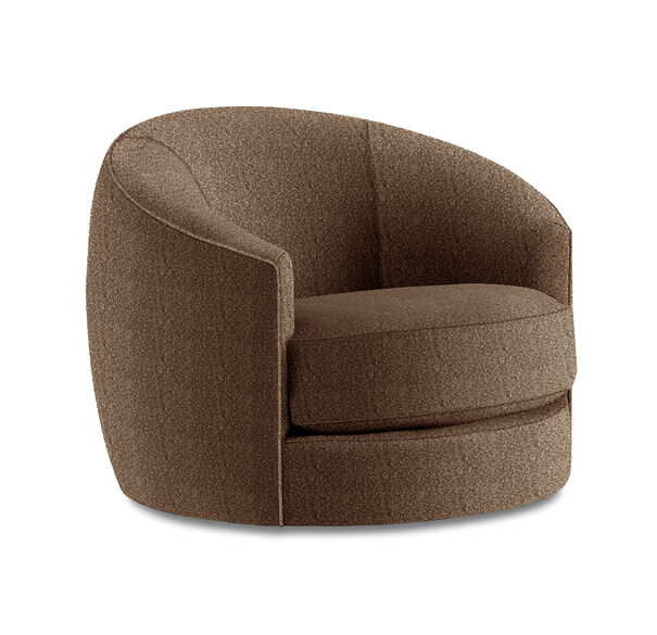 GISELLE SWIVEL CHAIR, Boucle - Sepia, hi-res