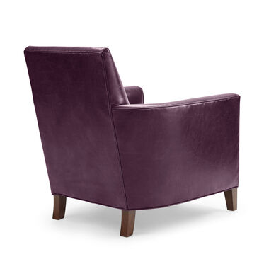 AIDEN LEATHER CHAIR, MONT BLANC - AUBERGINE, hi-res