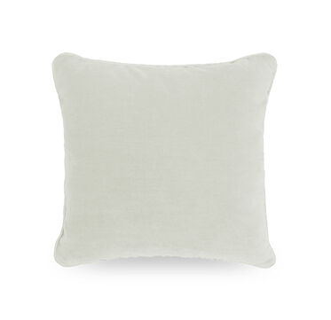 17 IN. SQUARE THROW PILLOW, BELGIAN LINEN - WHIT, hi-res