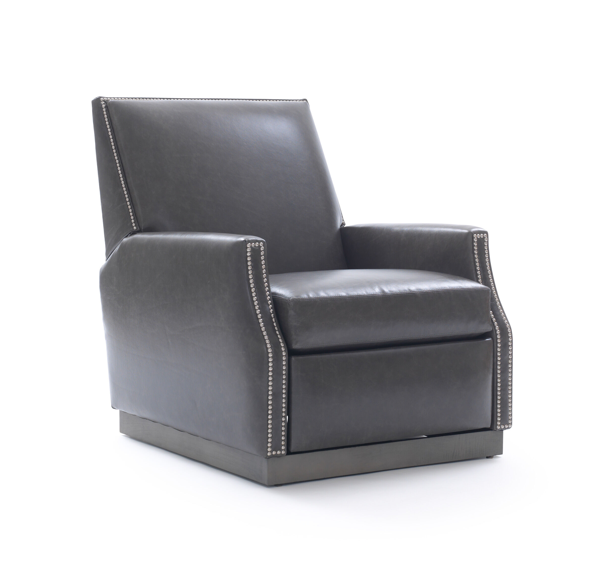 Beau BENSON LEATHER RECLINER, TUSCANY   GREY SLATE, Hi Res