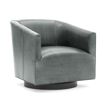 COOPER STUDIO LEATHER SWIVEL CHAIR, MONT BLANC - WOLF, hi-res