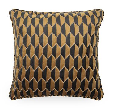 22 IN. SQUARE THROW PILLOW, BRYANT - BRONZE, hi-res