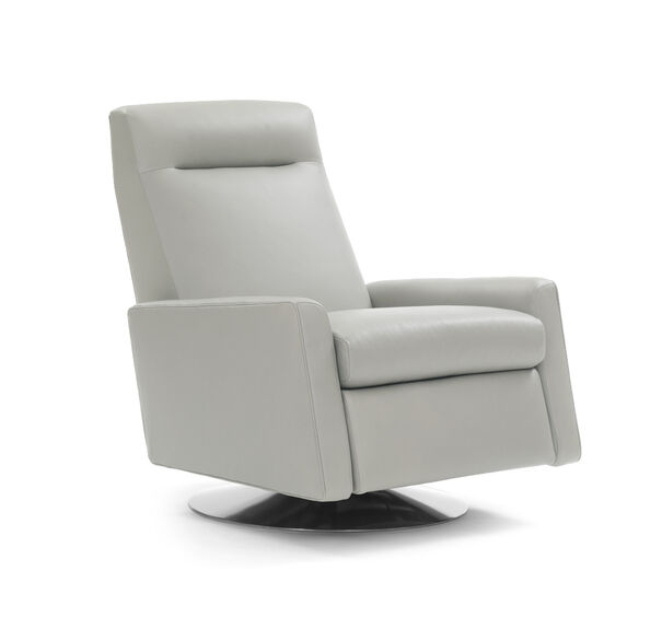TILTON LEATHER RECLINER, VANCE - CEMENT, hi-res