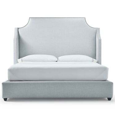 MIRABELLE TALL KING FLOATING RAIL BED, WORTH - SKY BLUE, hi-res