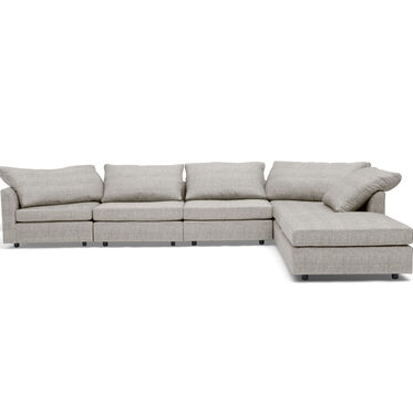 BIG EASY 6-PC SECTIONAL, COSTA - SILVER, hi-res