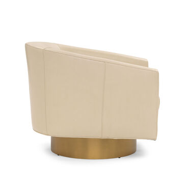 BIANCA FULL SWIVEL LEATHER CHAIR, MONT BLANC - IVORY, hi-res