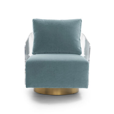 LUCY FULL SWIVEL CHAIR, VIVID - AZURE, hi-res
