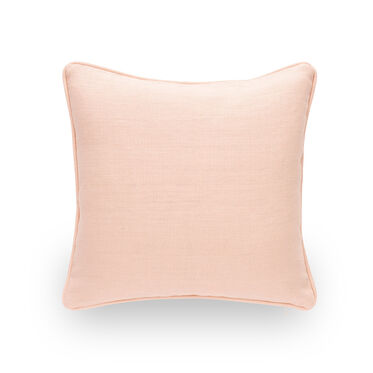 17 IN. SQUARE THROW PILLOW, BELGIAN LINEN - BLUS, hi-res