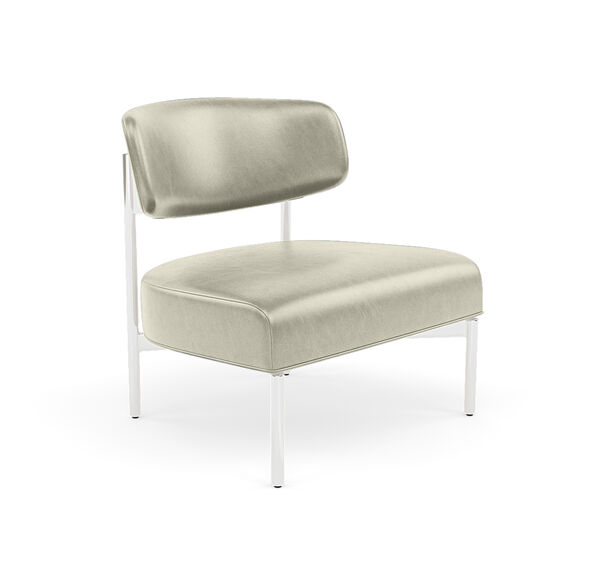 REMY LEATHER CHAIR, MONT BLANC - IVORY, hi-res