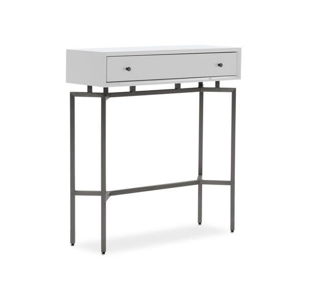 MING CONSOLE - WHITE / PEWTER, , hi-res