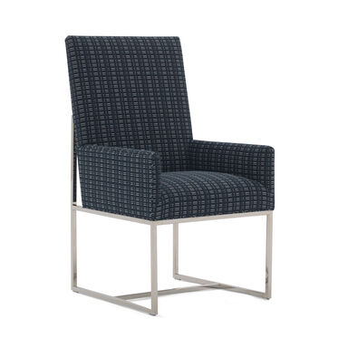 GAGE TALL ARM DINING CHAIR, DOT DASH - NAVY, hi-res