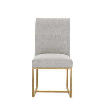 GAGE LOW DINING CHAIR - BRUSHED BRASS, COSTA - SILVER, hi-res